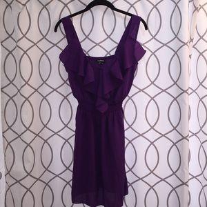 My Michelle Purple Ruffle Dress Small